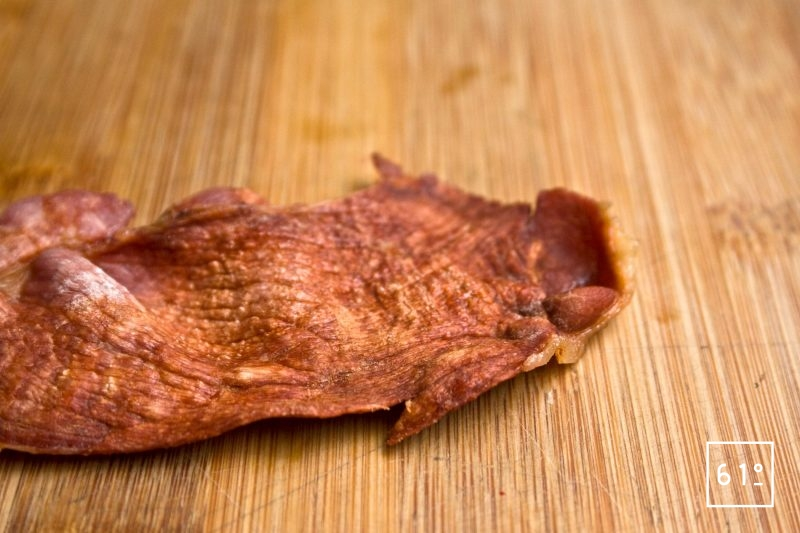 chips de jambon desséchée