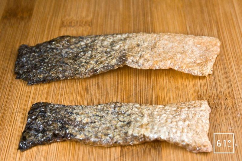 Chips de peau de saumon