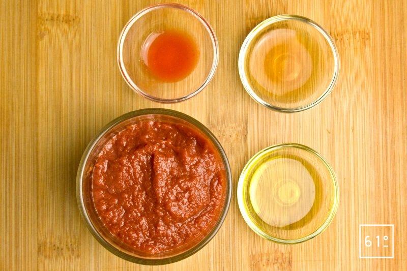 Ingrédients pour le cuir de tomates