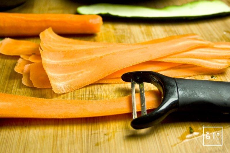 Faire des lamelles avec les légumes