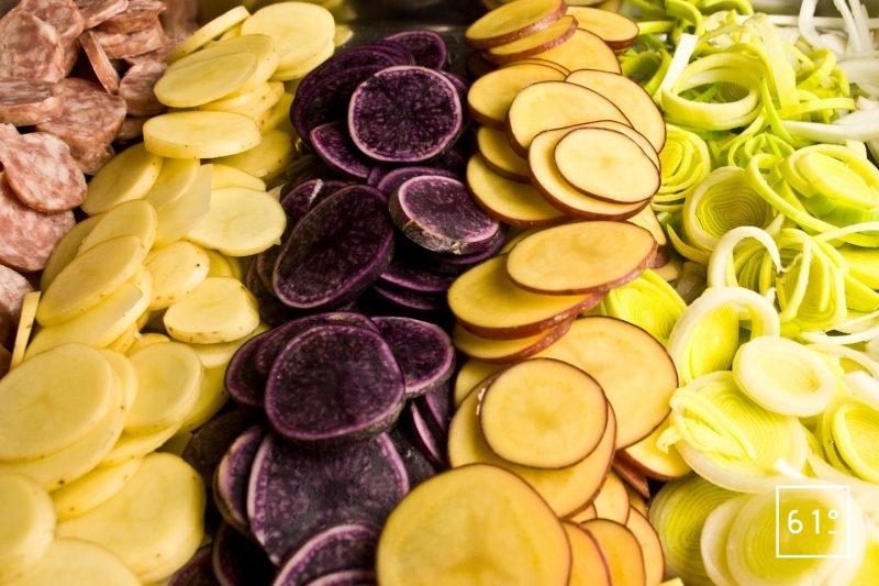 Rondelles de légumes