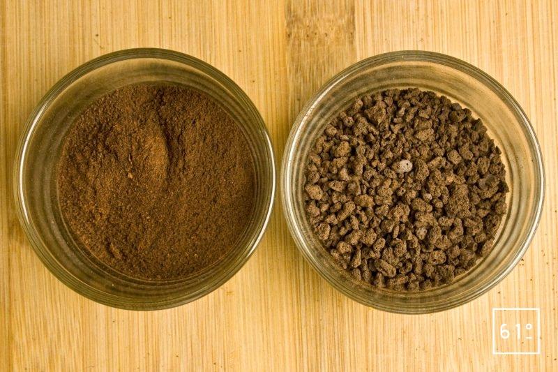 Meringue de cacao en grain ou en poudre