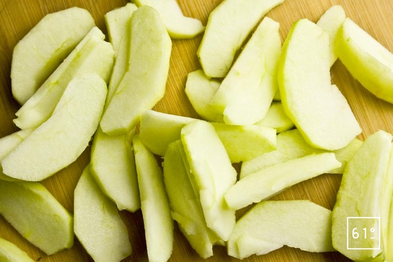 Tranches de pomme Granny Smith