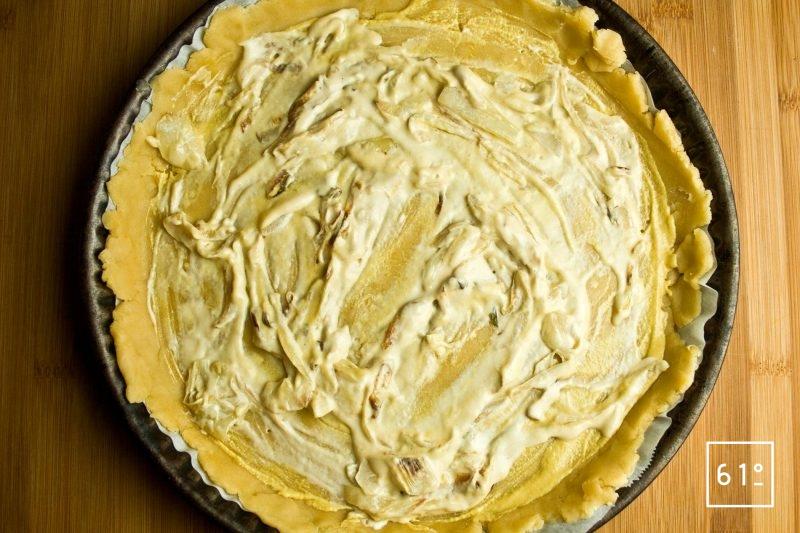 Tapisser le fond de la pâte