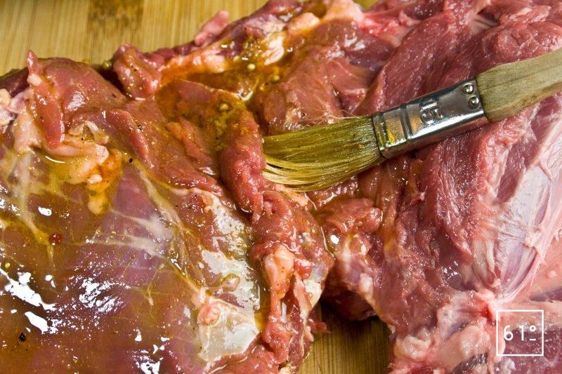 Badigeonner la viande