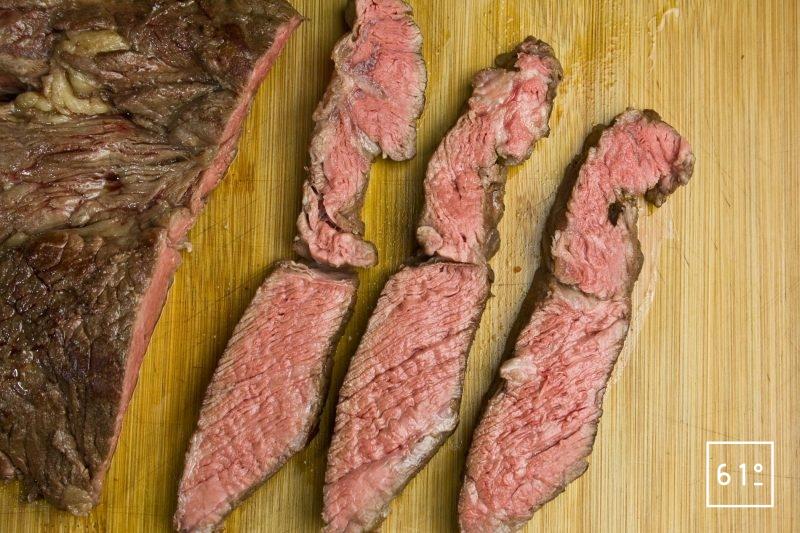 Basse côte de bœuf à servir