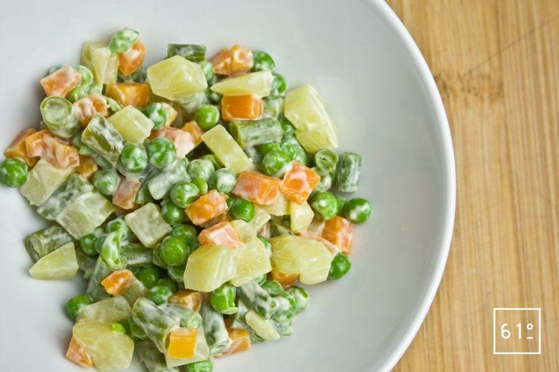 Macédoine de légumes en salade