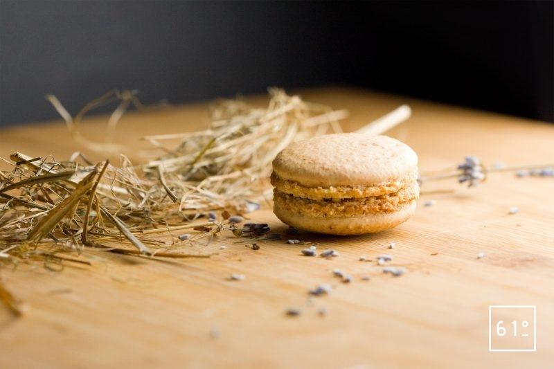 Macaron mousse de foie et de miel de lavande