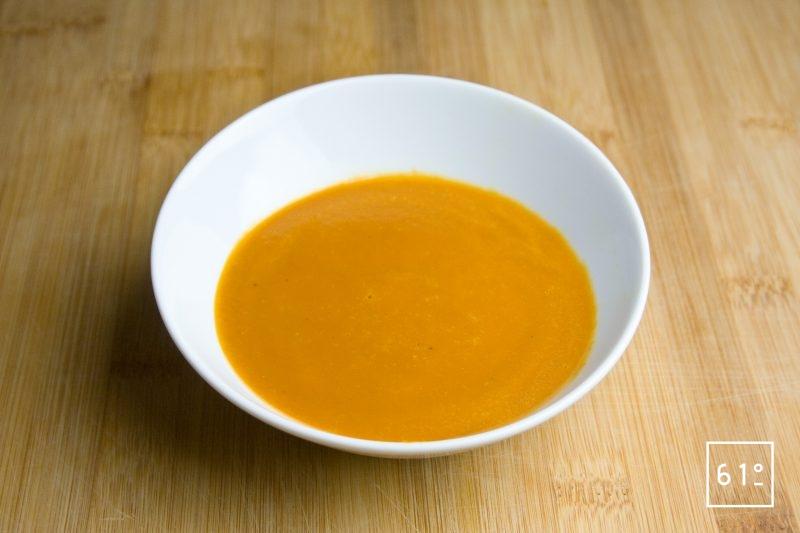 Soupe de carottes caramélisées