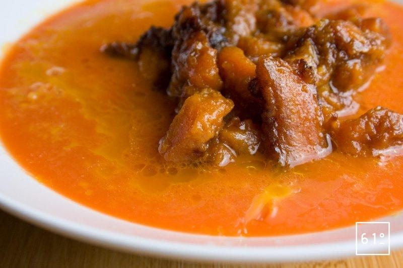 Carottes cuites sous pression et jus de carotte
