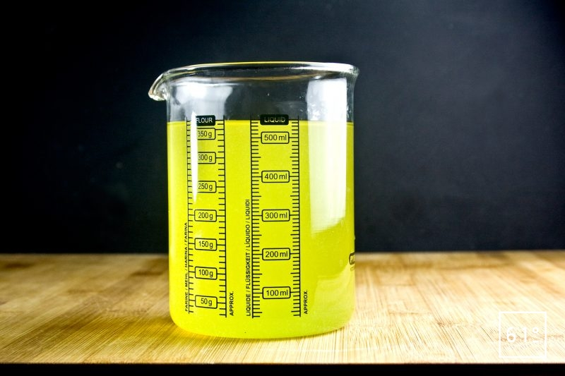 limoncello préparé sous vide