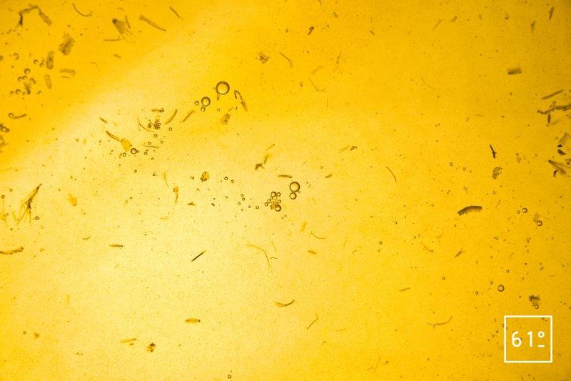 Faire cuire sous vide pendant 60 minutes à 95 °C le mélange de sucre et l'infusion de fleurs de pissenlit