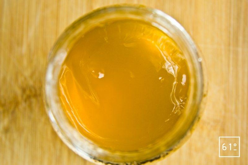 gelée de pissenlit en pot