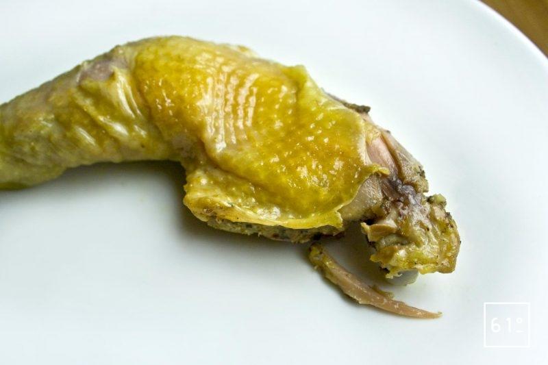 Confit de cuisse de poulet sous vide