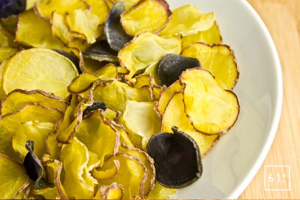 Chips de pomme de terre déshydratées