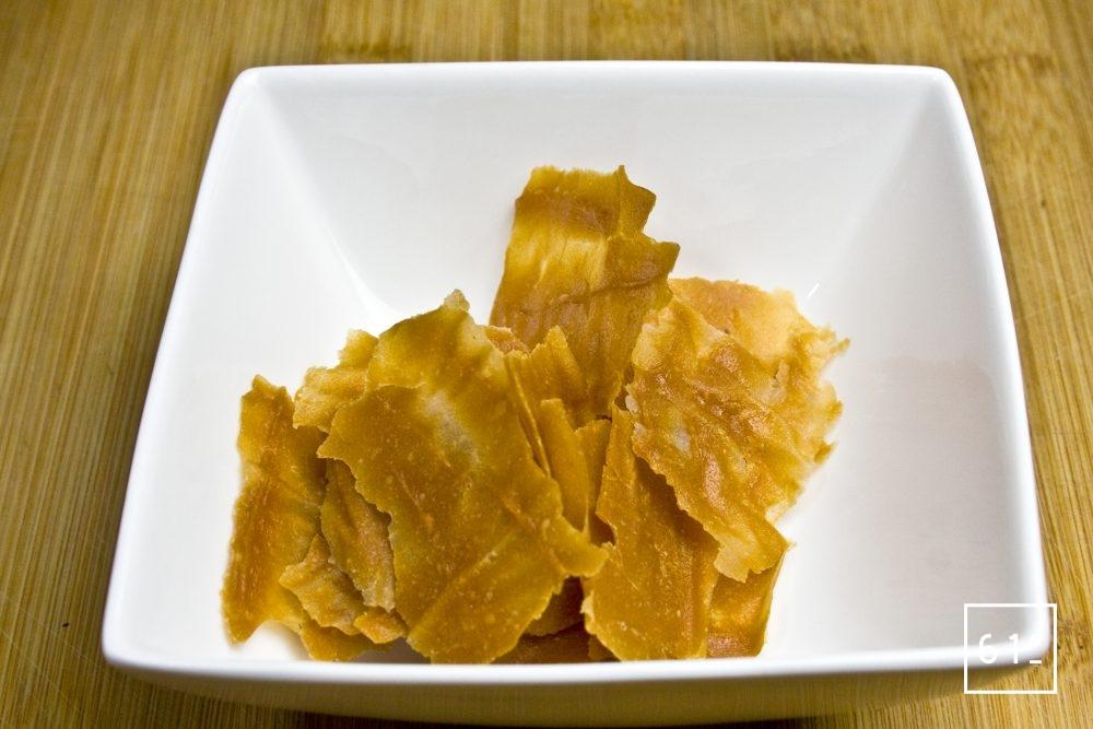 Compote de pommes caramélisée déshydratée
