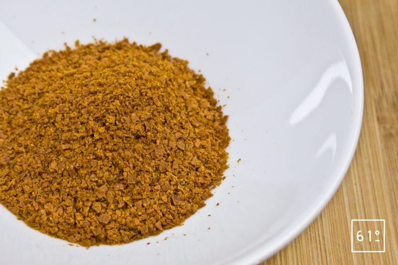 Soupe déshydratée en poudre