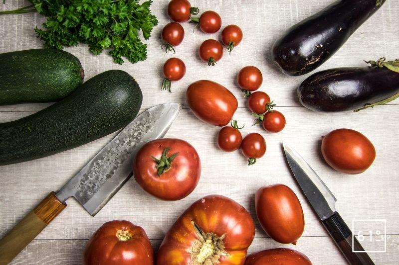 Préparer les légumes pour la ratatouille