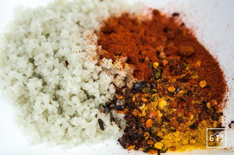 Mélange de sel de Guérande et d'épices pour le gravlax jaune
