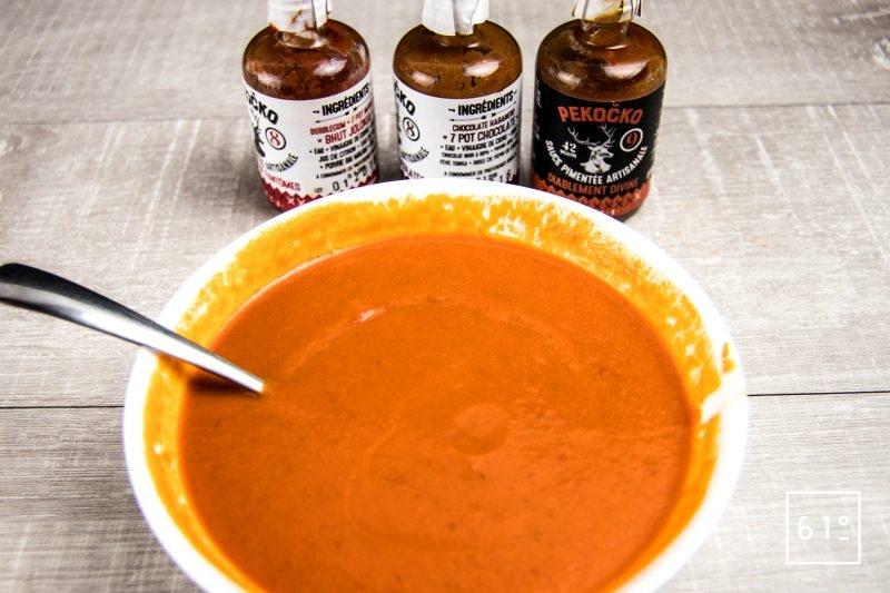 Ajouter les sauces Pekocko