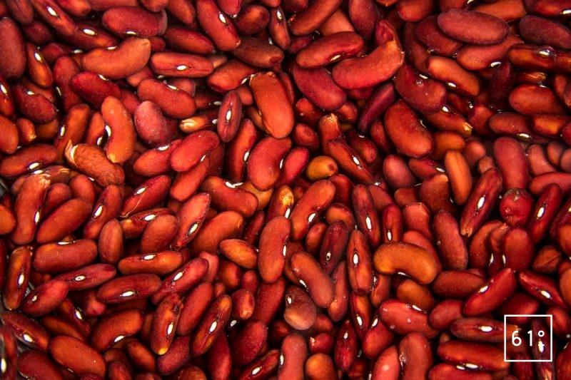 Réhydrater les haricots rouges