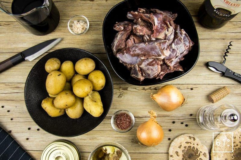 Chevreuil sous vide - les ingrédients