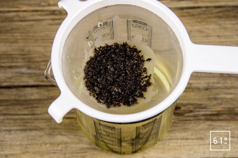 Huile de truffe - filtrer