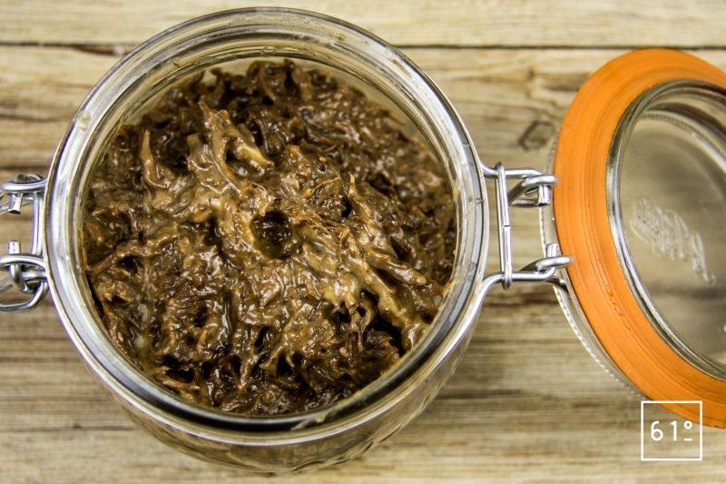 Rillettes de bœuf - mettre en pot les rillettes de bœuf