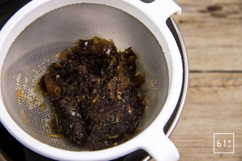 Foie de lotte Ankimo - Filtrer la sauce