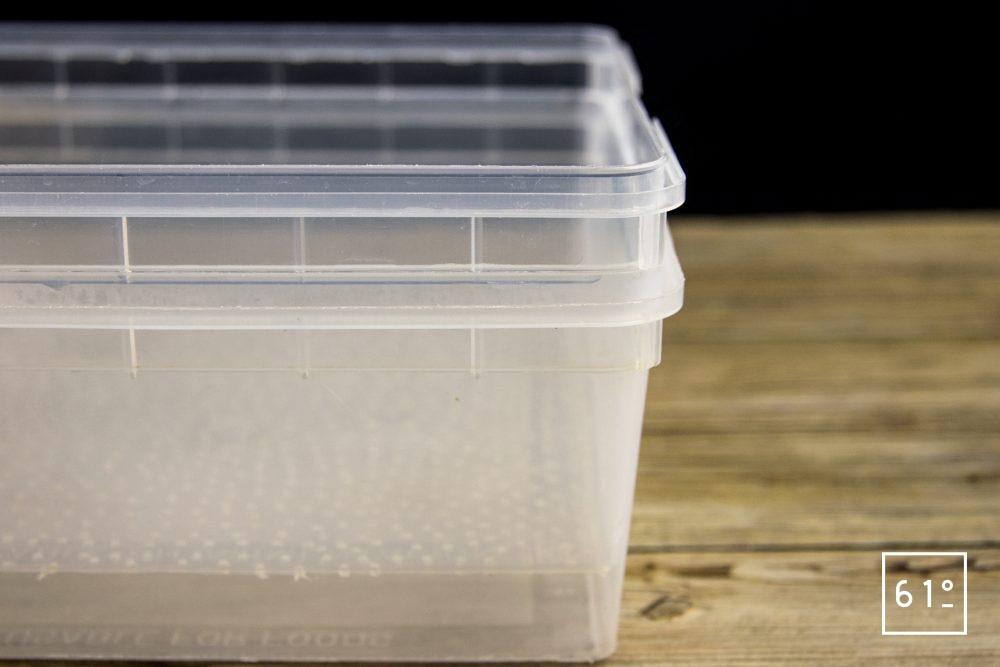 Germoir pour graines germées et micro pousses - germoir cuve et grille percée