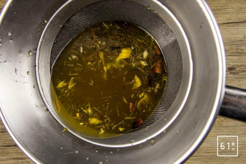 Pain d'épices à la main de Bouddha - filtrer le mélange d'épices
