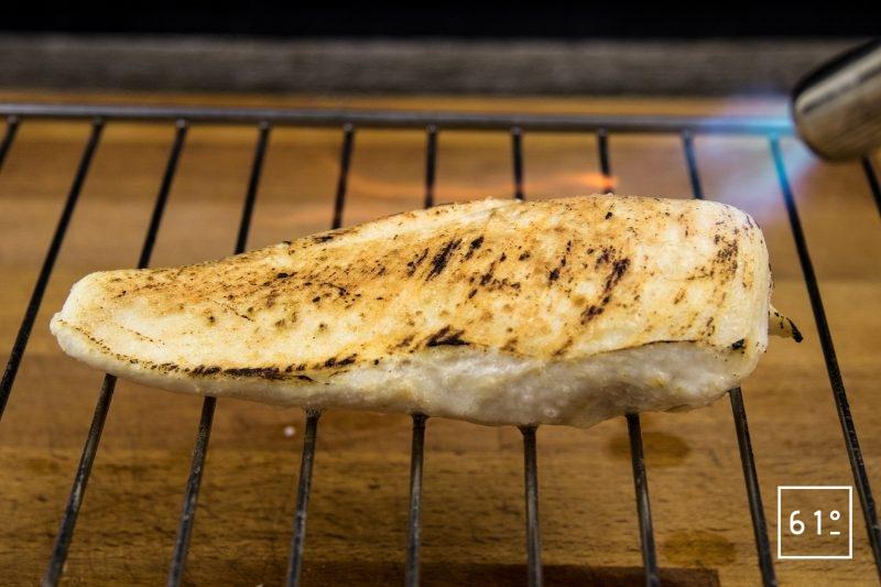 Filet de poulet basse température au parmesan - saisir au chalumeau