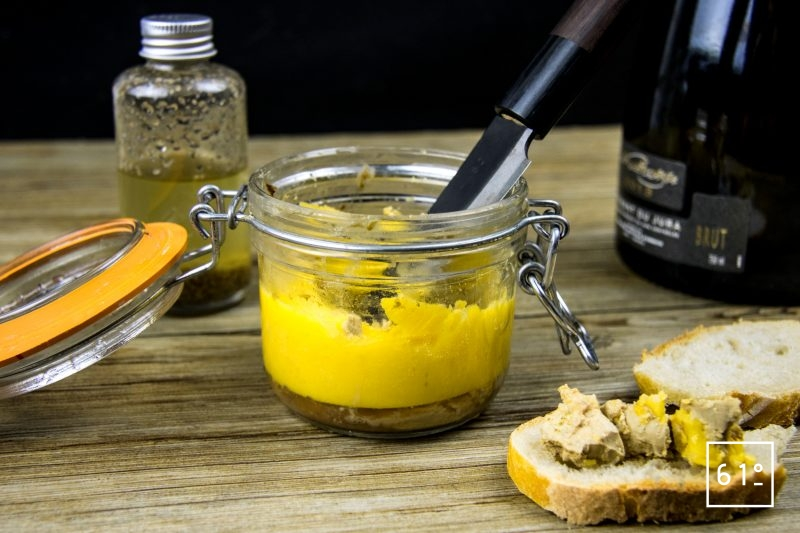 Foie gras au whisky en pot