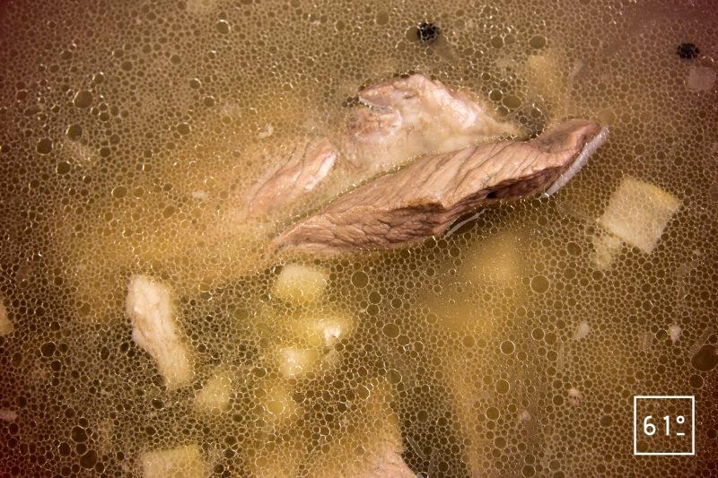 Jambon persillé sans nitrite ou nitrate - cuire le bouillon