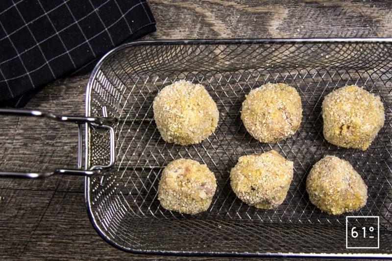 Cromesquis de porc et bisque de crustacés - frire les cromesquis