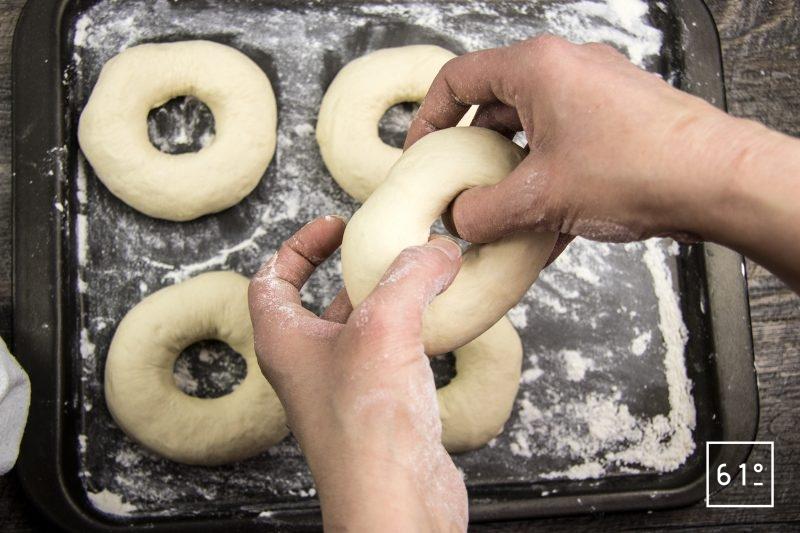bagels - former les bagels