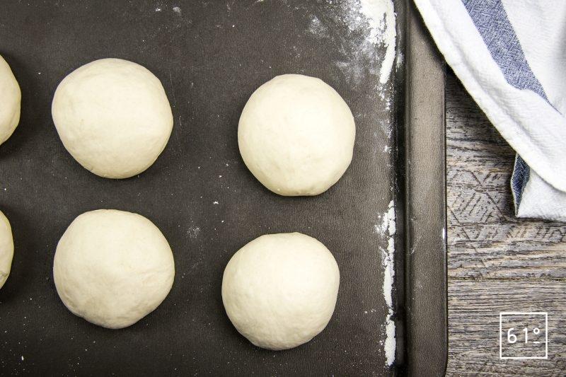 bagels - former des petites boules de même poids
