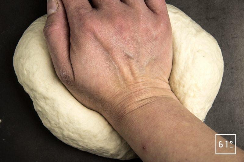 bagels - pétrir la pâte