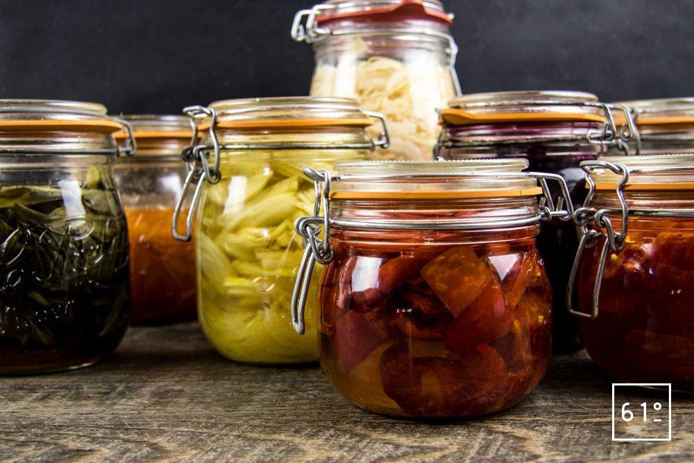 lactofermentation - piments habanero, oignons, betteraves, ail des ours, choucroute, kimchi