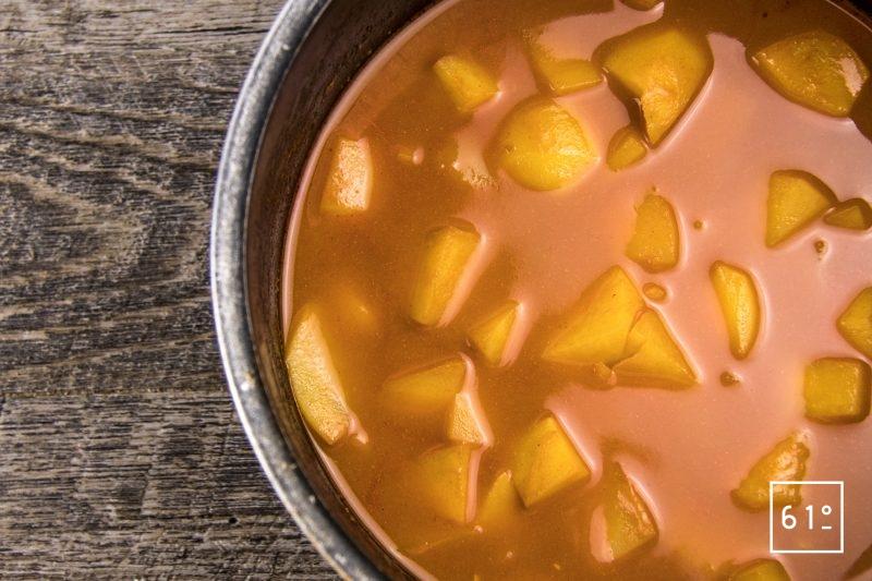Rouille au foie de lotte - cuire les pommes de terre dans la bisque
