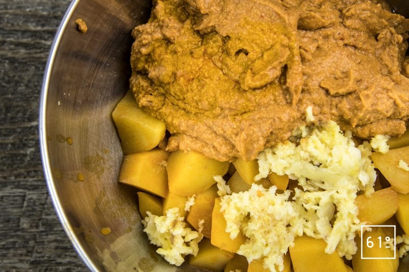 Rouille au foie de lotte - rassembler les ingrédients