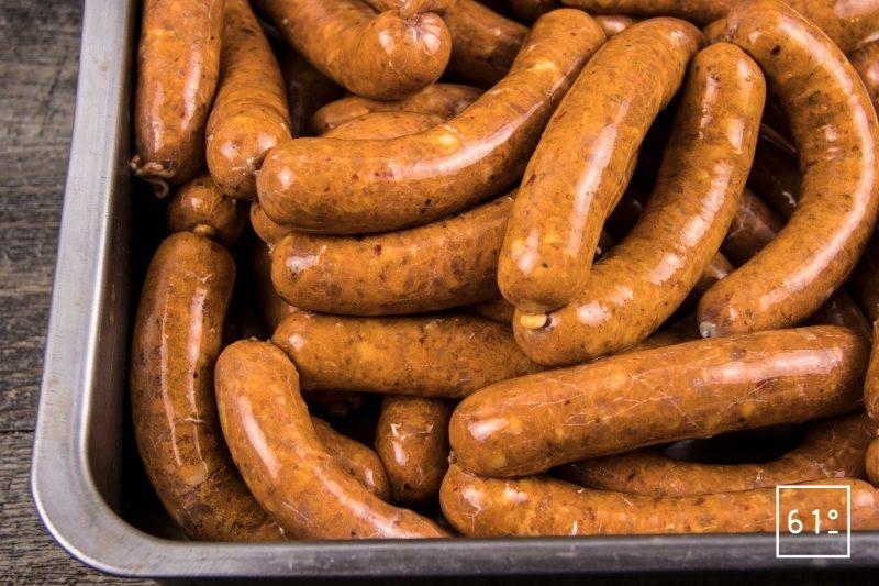 Saucisses au pimenton de la Vera - laisser une nuit au réfrigérateur