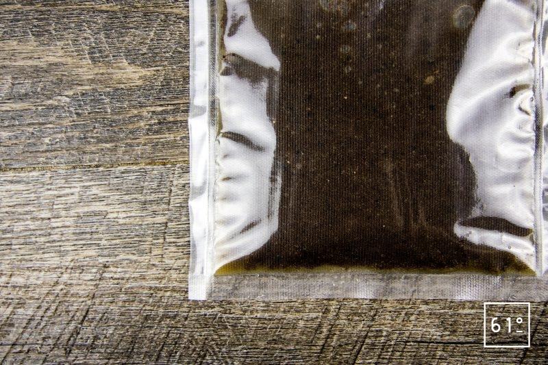 Fleurs de courgette au foie gras et à l'olive noire - mettre sous vide