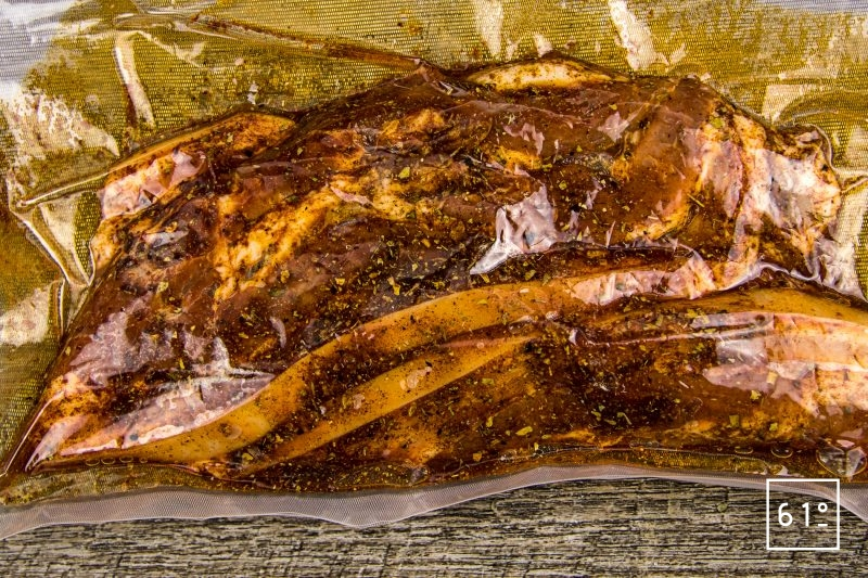 Marinade Tennessee pour porc - mettre sous vide à mariner au réfrigérateur