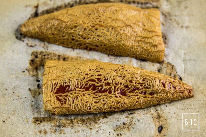 Côtes de chevreuil volcano - cuire les piments au four