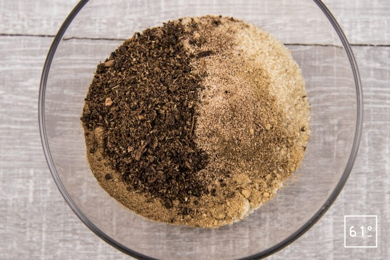 Huître au Cava - mélanger les épices