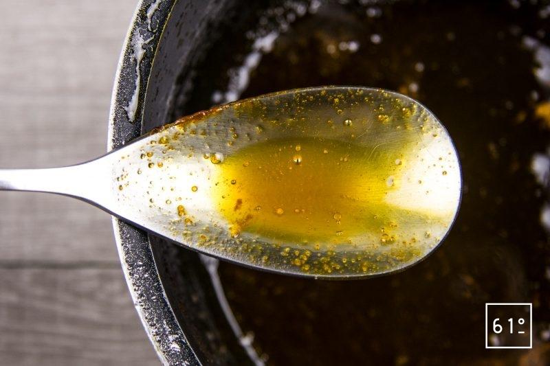 Réduction de carotte au miel