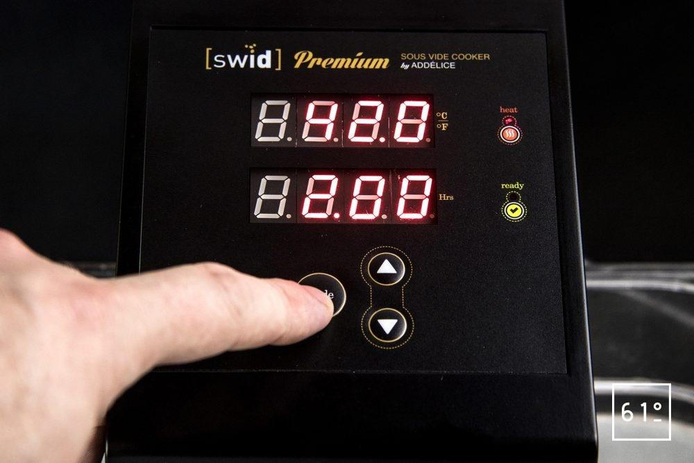 Thermoplongeur à platine Swid Premium - réglage de la température et de la durée de cuisson