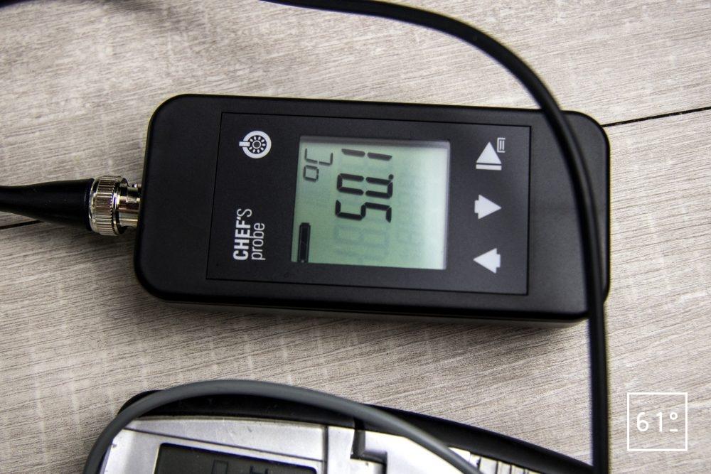 Thermoplongeur à platine Swid Premium - température de l'eau dans le bac avec la sonde platine