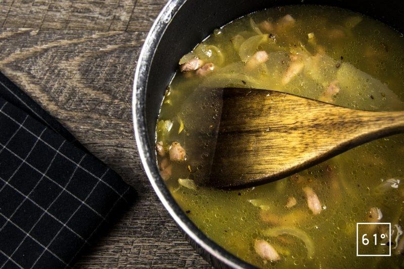 Bœuf carottes picanha - ajouter le mélange de liquides